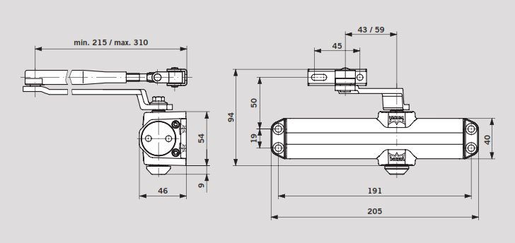 Dormakaba Ts Compact Kapı Hidroliği